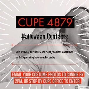 CUPE 4879 Halloween Contests