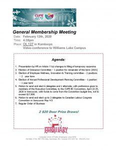 CUPE 4879 General Meeting @ OL127